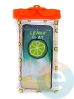 Водонепроницаемый чехол Kids для смартфона с поплавком и шнурком лайм