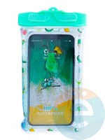 Водонепроницаемый чехол Kids для смартфона с поплавком и шнурком коктейль зеленый