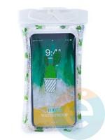 Водонепроницаемый чехол Kids для смартфона с поплавком и шнурком кактус