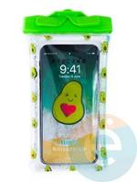 Водонепроницаемый чехол Kids для смартфона с поплавком и шнурком авокадо