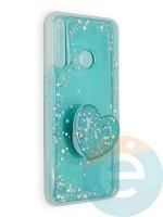 Накладка силиконовая с Поп Сокетом для Huawei Honor 9C белая