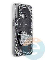 Накладка силиконовая с Поп Сокетом для Huawei Honor 9C розовая