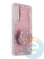 Накладка силиконовая с Поп Сокетом для Huawei P30 бирюзовая