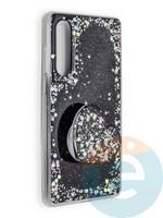 Накладка силиконовая с Поп Сокетом для Huawei P30 розовая
