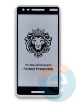Защитное стекло 5D с полной проклейкой на Nokia 2.1 черное