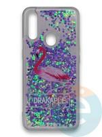 Накладка силиконовая переливашка на Oppo A31 Фламинго