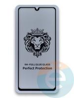 Защитное стекло 5D с полной проклейкой на Samsung Galaxy A41 черное