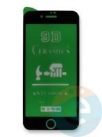 Защитное стекло Ceramics (в упаковке) для Apple iPhone 7/8/SE2 черное