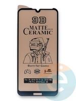 Защитное стекло Ceramics Matte (в упаковке) для Huawei Y6 2019/Honor 8A черное
