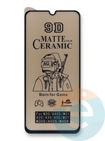 Защитное стекло Ceramics Matte (в упаковке) для Samsung M21 черное