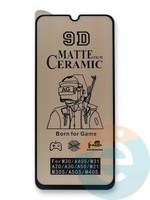 Защитное стекло Ceramics Matte (в упаковке) для Samsung M31 черное