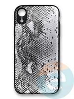 Накладка силиконовая Pitone для Apple iPhone Xr серебристая