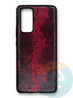 Накладка силиконовая Pitone для Huawei Honor 30 Pro бордовая