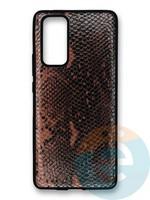 Накладка силиконовая Pitone для Huawei Honor 30 Pro коричневая