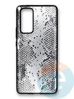 Накладка силиконовая Pitone для Huawei Honor 30 Pro серебристая