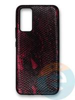 Накладка силиконовая Pitone для Huawei Honor 30 бордовая