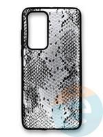Накладка силиконовая Pitone для Huawei P40 серебристая