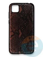 Накладка силиконовая Pitone для Huawei Y5P/Honor 9S коричневая