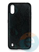 Накладка силиконовая Pitone для Samsung Galaxy A01 зеленая