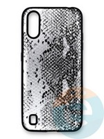 Накладка силиконовая Pitone для Samsung Galaxy A01 серебристая