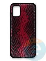 Накладка силиконовая Pitone для Samsung Galaxy A31 бордовая