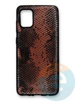 Накладка силиконовая Pitone для Samsung Galaxy A31 коричневая