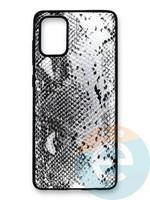 Накладка силиконовая Pitone для Samsung Galaxy A71 серебристая