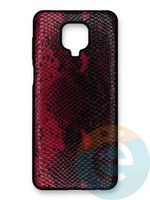 Накладка силиконовая Pitone для Xiaomi Redmi Note 9S/9 Pro бордовая
