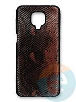 Накладка силиконовая Pitone для Xiaomi Redmi Note 9S/9 Pro коричневая