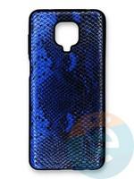Накладка силиконовая Pitone для Xiaomi Redmi Note 9S/9 Pro синяя