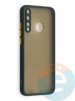 Накладка пластиковая с силиконовой окантовкой с защищенной камерой для Huawei P40 Lite E/Y7P/ Honor 9C зеленая