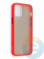 Накладка пластиковая матовая с силиконовой окантовкой для iPhone 12 5.4 красная
