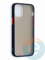 Накладка пластиковая матовая с силиконовой окантовкой для iPhone 12 5.4 черная