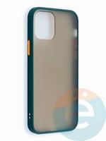 Накладка пластиковая матовая с силиконовой окантовкой для iPhone 12 6.1 зеленая