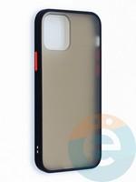 Накладка пластиковая матовая с силиконовой окантовкой для iPhone 12 6.1 черная