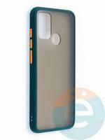 Накладка пластиковая с силиконовой окантовкой для Huawei Honor 9A зеленая