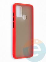 Накладка пластиковая с силиконовой окантовкой для Huawei Honor 9A красная