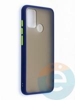 Накладка пластиковая с силиконовой окантовкой для Huawei Honor 9A синяя