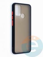 Накладка пластиковая с силиконовой окантовкой для Huawei Honor 9A черная
