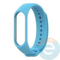 Силиконовый ремешок для Xiaomi Mi band 5 голубой