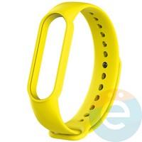 Силиконовый ремешок для Xiaomi Mi band 5 желтый