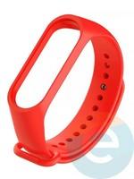 Силиконовый ремешок для Xiaomi Mi band 5 красный