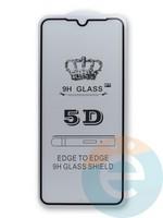 Защитное стекло 5D с полной проклейкой на Huawei Nova 8SE черное