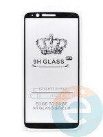 Защитное стекло 5D с полной проклейкой на One Plus 5t черное