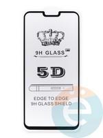 Защитное стекло 5D с полной проклейкой на One Plus 6 черное