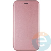 Чехол книжка боковой Fashion Case для Huawei Y8P/Honor 30i розово-золотистый