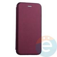 Чехол книжка боковой Fashion Case для Huawei Y8P/Honor 30i бордовый