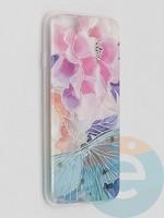 Накладка комбинированная Flowers с силиконовой окантовкой для Apple iPhone 6/6s вид7