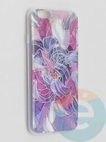 Накладка комбинированная Flowers с силиконовой окантовкой для Apple iPhone 6/6s вид9