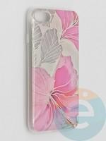 Накладка комбинированная Flowers с силиконовой окантовкой для Apple iPhone 7/8/SE2 вид1